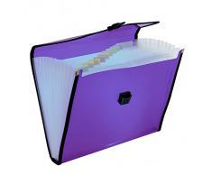 Plus Office KA4-12-VL - Carpeta clasificadora con broche, 12 separadores, violeta