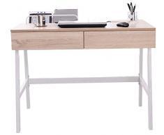 SixBros. Mesa de ordenador roble - efecto madera - CT-3534A/2186