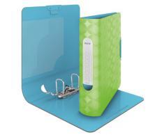 Leitz 11330050 - Carpeta de cartón (80 mm), color verde y azul