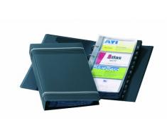 Durable Visifix - Carpeta archivadora de tarjetas de visita 145 x 255 mm, color gris antracita