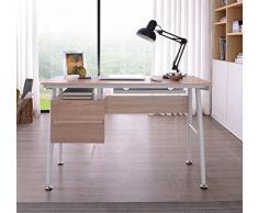 SixBros. Mesa de ordenador - Roble - Efecto madera - CT-3541/2189