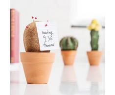 Suck UK CORKCACTUS1 - Cactus de corcho organizador de escritorio