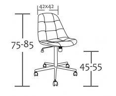 SixBros. Design Taburete giratorio Silla de oficina blanco - M-65314-1/726