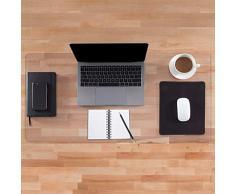 Almohadilla de escritorio transparente | Antideslizante | Bordes Redondos | Estera de escritura | Estera de escritorio de PVC | Con textura-900x400x1.5mm