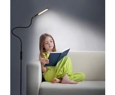 Zanflare LED Lámparas de Pie para Salón, Lámpara de pie Inteligente con el Control Remoto, 5 Tipos de la Temperatura de Color Modo de Luz Nocturna para Leer, Dormitorio, Oficina.(Negro)