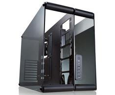 RAIJINTEK Paean Escritorio Negro, Transparente - Caja de Ordenador (Escritorio, PC, Aluminio, SPCC, Vidrio Templado, Negro, Transparente, ATX,Micro ATX,Mini-ITX, 14 cm)