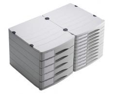 Rotho 10700Mk000 Profiline - Cajón Archivador de Oficina (5 Cajones) A4, color gris