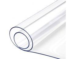 Eazyhurry - Mantel de PVC Transparente Resistente al Agua y a Las Rayas, Protector de Tela de plástico Transparente para Mesa o Escritorio, 15.7??x23.6''/40x60cm
