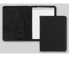 Brunnen Classic - Carpeta de conferencias (252 x 339 x 37 mm, piel sintética, lisa), color negro