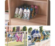 EQLEF® 2 piezas colgantes multifunción Zapato de los niños Organizador del estante para los armarios