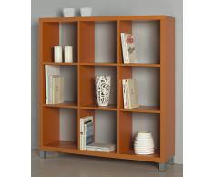 Kit Closet Estantería Kubox 9 huecos naranja