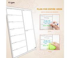 Calendario Magnético para Nevera -Planificador de Menú, Recordatorio, Lista de la Compra - Pizarra Magnética 30x40cm-Ezigoo
