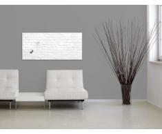 Sigel GL144 - Pizarra de cristal magnética, 91 x 46 cm, diseño ladrillo klinker blanco