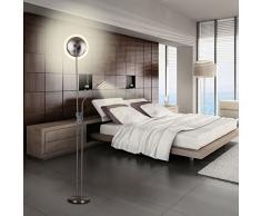 Finether-Lámpara de Pie LED (18w,Dobles Lámparas, Foco Ajustable de 3w con 3 Niveles de Intensidad, para Leer,Estudiar en la Habitación,salón, Oficina y Dormitorio.