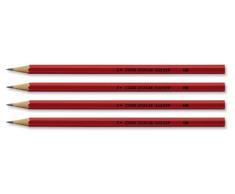 5 Star - Lápices HB, color rojo (12 unidades)