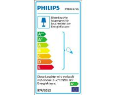 Philips Smartspot Alcor - Pack de 3 focos empotrables LED, iluminación de interior, luz blanca cálida, 3 x 3,5 W, casquillo GU10, color gris
