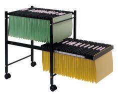 FELIXMANIA Carrito para Carpeta s Colgantes Negro con Ruedas y Bandeja Inferior Extraible para Carpetas tamaño Folio