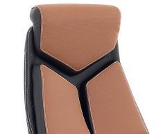 """Sillón de oficina silla de oficina de diseño Racing cuero silla giratoria """"formula"""" colour marrón y negro cromo base en cruz, deportivo cómodo sillón para la oficina más"""