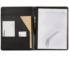 Solveig - Carpeta para conferencias (315 x 240 mm), color negro