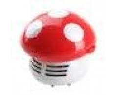 Mini Aspiradoras Aspiración de Polvo Mesa Escritorio Forma de Setas Esquina Limpio Barredora Linda - Roja