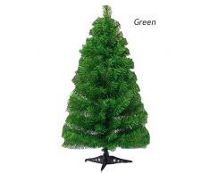 wonderday Árbol de Navidad Artificial de 60 cm, árbol de Navidad en Miniatura de plástico, decoración de Escritorio de Madera, decoración para el hogar