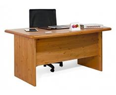 Escritorio, mesa ordenador, estudio, oficina L150 - madera de pino - bruto