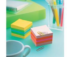 Notas Post-it en Minicubo Rosa (rosa, rosa intenso, naranja). 400 hojas/minicubo