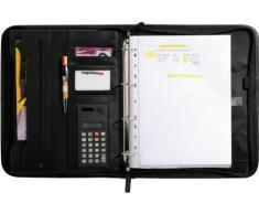 Sign Office - Carpeta para conferencias (355 x 290 mm, con archivador de anillas y cierre con cremallera)