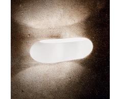 Ideal Lux MORIS AP2 Apto para uso en interior G9 40W Blanco iluminación de pared - Lámpara (Cepillado, 2 bombilla(s), 40 W, G9, IP20, Blanco)