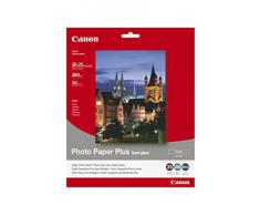Canon SG-201 - Papel fotográfico plus (260g/m2, 20 x 25 cm, 20 hojas, semi brillante, acabado satinado)