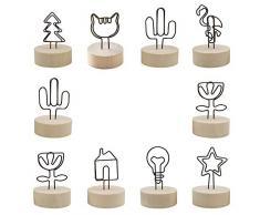 PEAK-EU 10 pzas Soportes Tocón con Clip Metal para Tarjetas de Lugar soporte para Tarjetas de Números Soporte para Mesa de Boda Nombre Tarjeta de Fotos Decoraciones de Fiesta