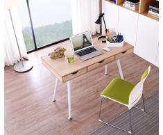 SixBros. Mesa de ordenador Roble - Efecto madera - CT-3555NA/2192