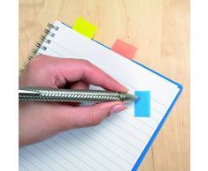 Post-it Index - Dispensador de banderitas separadoras (12 x 50 unidades, 43,2 x 25,4 mm), color rojo, amarillo, verde y azul