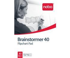 Nobo 34633719 Brainstormer - Rotafolio (5 unidades, 40 hojas lineadas, con perforaciones, tamaño A1)