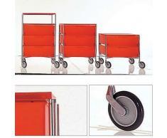 Kartell Gabinete Organizador con ruedas, 3 cajones, Pizarra / Chrome