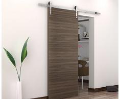 BD-FSS # Níquel cepillado acero inoxidable Sus304 MiniSun Hardware pista puerta corredera madera del granero para trastero, lavandería, baño principal, Walk-in armario, oficina, persianas, alta movilidad áreas