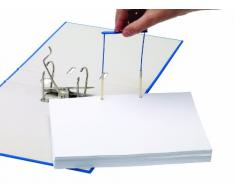Fellowes Bankers Box 00898 - Fastener de plástico clip para carpeta archivadora, 100 mm, color azul