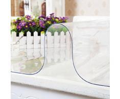 Yazi mantel impermeable de PVC transparente mesa escritorio pantalla suave cristal 60 x 120 cm