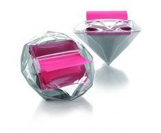 3M Post-it DI-330 - Dispensador de notas adhesivas (125 x 95 x 94 mm), diseño en forma de diamante, transparente