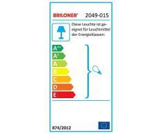Briloner Leuchten 2049-015 lámpara de pared E14, Negro/Dorado, 15.6 x 10 x 15.6 cm