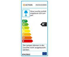 Wofi Action 450301010000 - Lámpara de pared LED (5 W, acabado cromado)