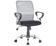 SixBros. Sillón de oficina Silla de oficina Silla giratoria gris/negro - H-8078F-2/2060