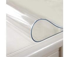 Knowled 1,5 mm Mantel Transparente Protector de PVC Impermeable para Mantel, Mesa, Mesa de Escritorio, Cubiertas para Mesa, tamaño Personalizado.