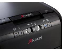 Rexel Auto+ 80X - Destructora de papel con alimentación automática (corte en confeti, cuchilla autolimpiable, 20 litros), color negro