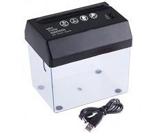 Portable Mini USB / batería eléctrica Powered cortador de destructora de papel con abridor de cartas para el hogar oficina