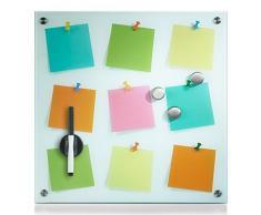 Zeller 11640 Notes - Pizarra magnética (cristal), diseño de notas de colores