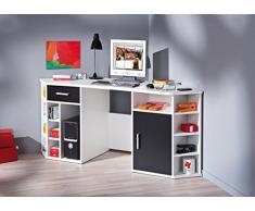 Links 13300200 Fabri escritorio de esquina blanco/negro 181 x 67 x 78 cm