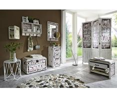 Haku Möbel armario de pared, metal, vintage, 55 x 8 x 75 cm