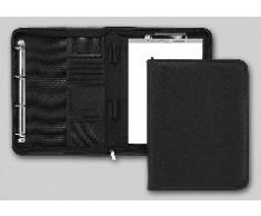 Brunnen - Carpeta de conferencias (281 x 369 x 55 mm, piel sintética, lisa), color negro