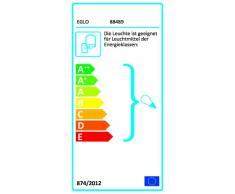 Eglo 88489 Milton - Lámpara de pared para exterior (acero galvanizado y cristal transparente, bombilla E27 de 60 W no incluida, grado de protección IP44, altura 31 cm, alcance 31 cm)